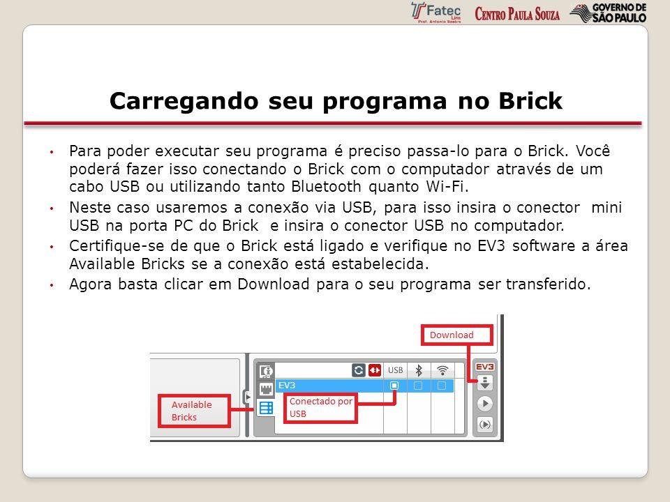Carregando seu programa no Brick