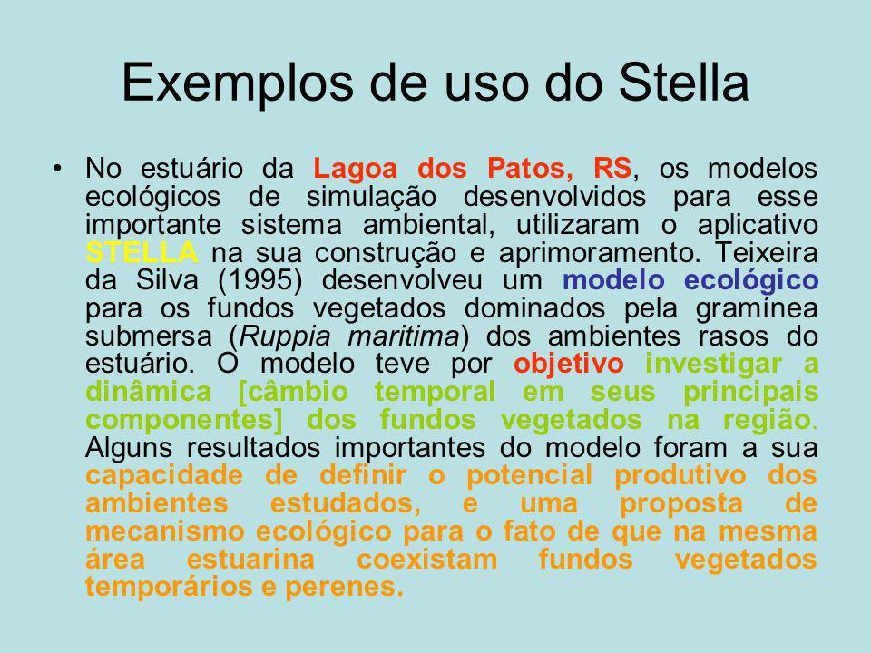 Exemplos de uso do Stella