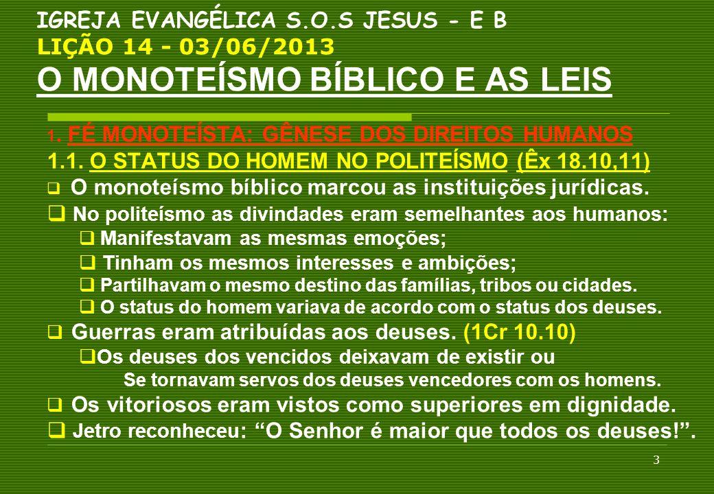 1.1. O STATUS DO HOMEM NO POLITEÍSMO (Êx 18.10,11)