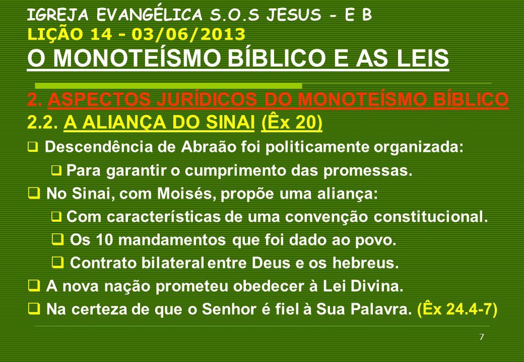 2. ASPECTOS JURÍDICOS DO MONOTEÍSMO BÍBLICO