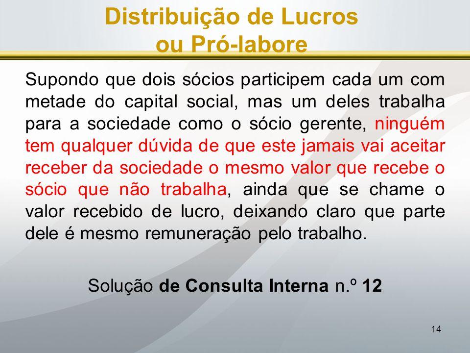 Distribuição de Lucros ou Pró-labore
