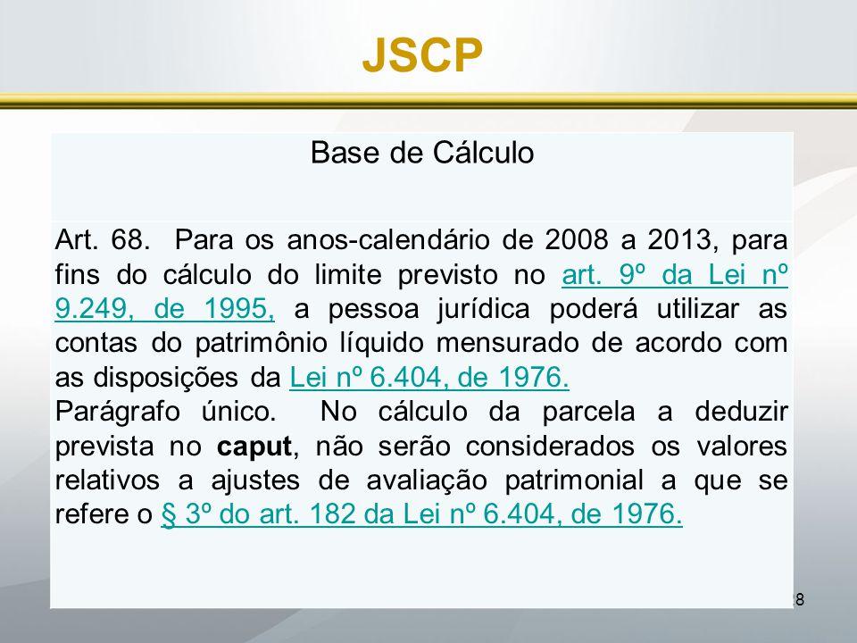 JSCP Base de Cálculo.