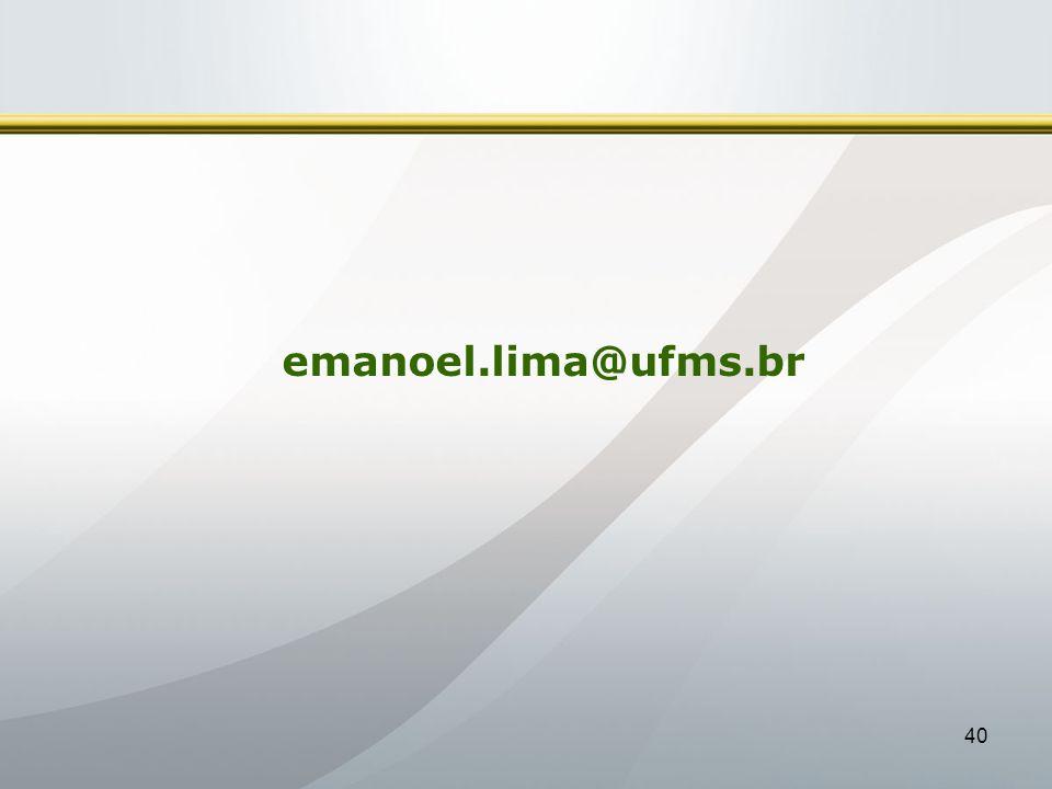 emanoel.lima@ufms.br 40