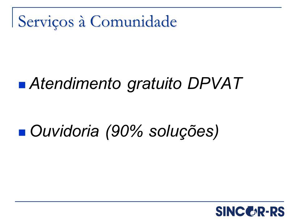 Serviços à Comunidade Atendimento gratuito DPVAT
