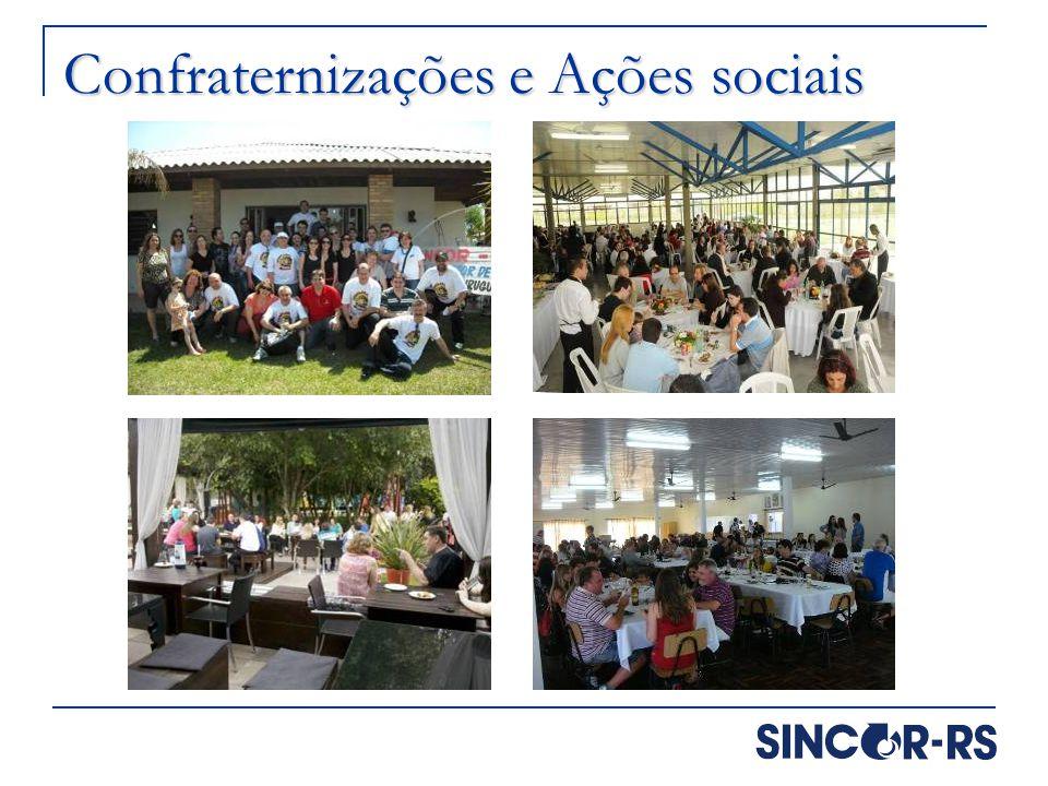 Confraternizações e Ações sociais