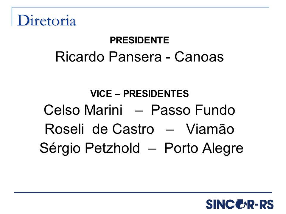 Diretoria Ricardo Pansera - Canoas Celso Marini – Passo Fundo