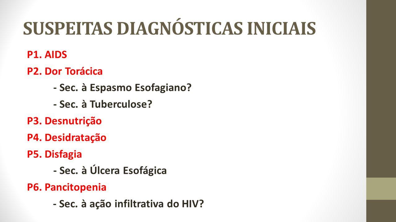 SUSPEITAS DIAGNÓSTICAS INICIAIS