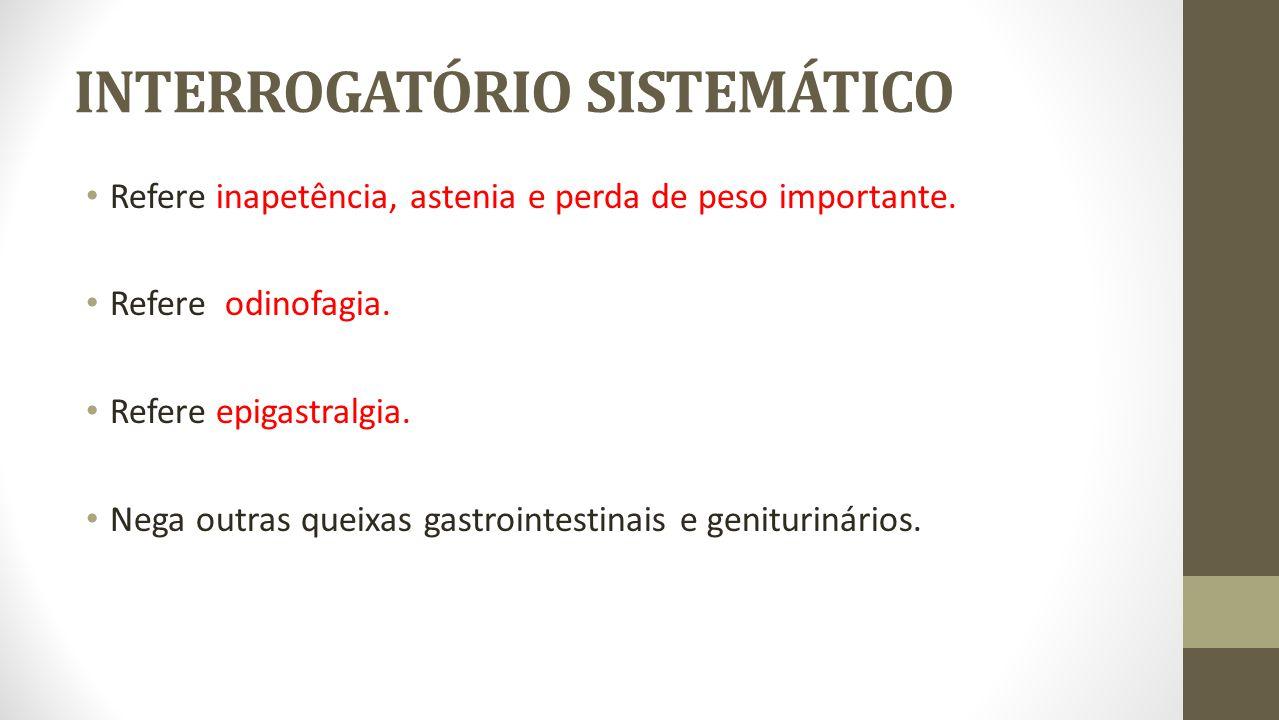 INTERROGATÓRIO SISTEMÁTICO