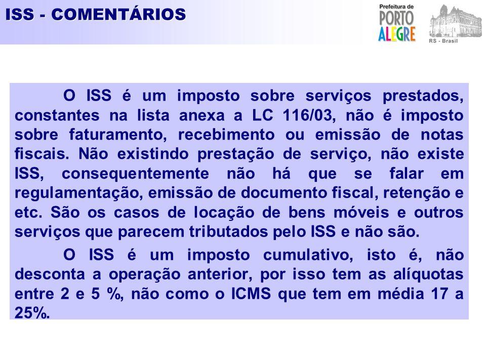 ISS - COMENTÁRIOS