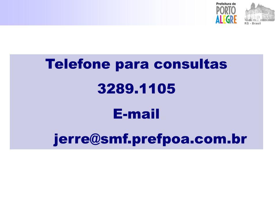 Telefone para consultas
