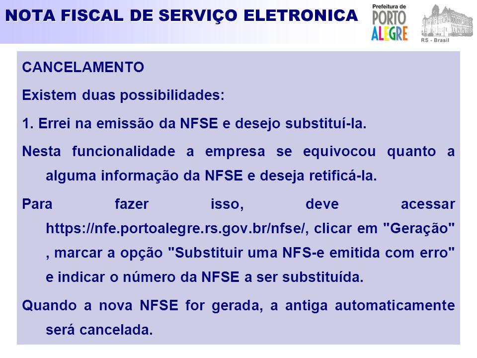 NOTA FISCAL DE SERVIÇO ELETRONICA