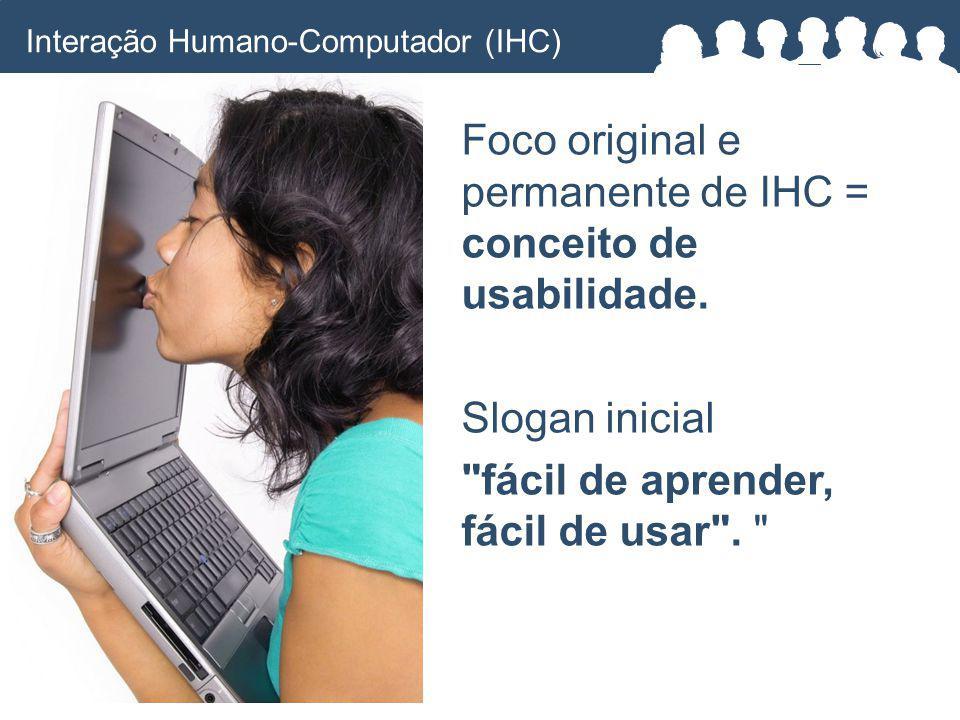 Foco original e permanente de IHC = conceito de usabilidade.