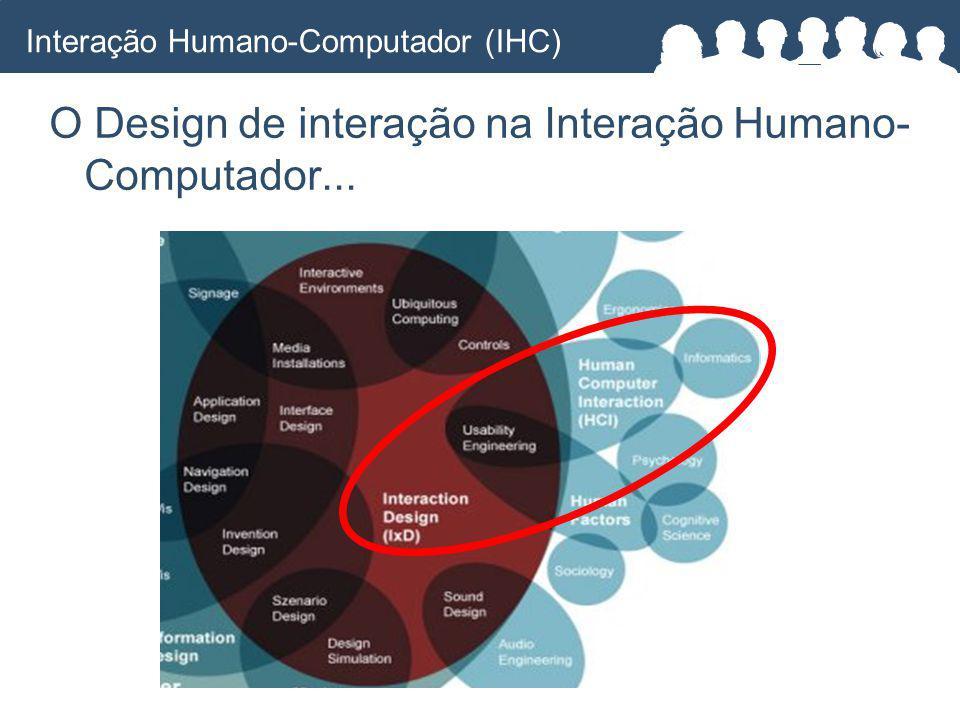 O Design de interação na Interação Humano- Computador...