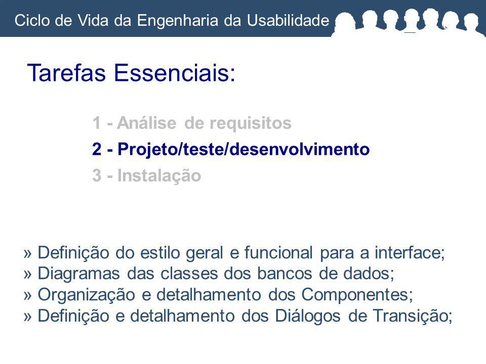 Tarefas Essenciais: 1 - Análise de requisitos