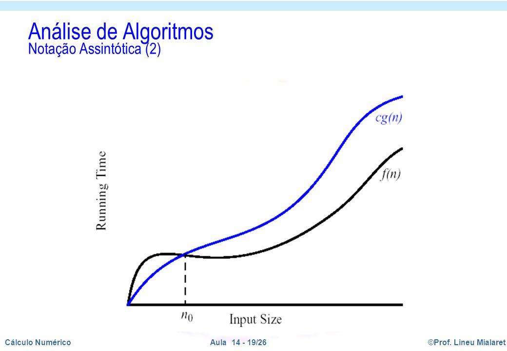 Análise de Algoritmos Notação Assintótica (2)