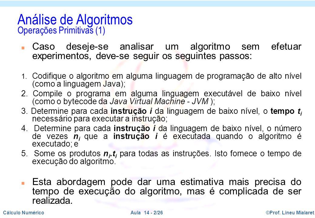 Análise de Algoritmos Operações Primitivas (1)
