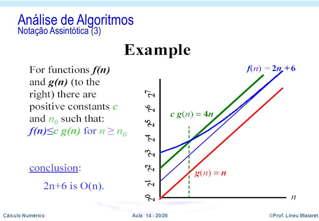 Análise de Algoritmos Notação Assintótica (3)