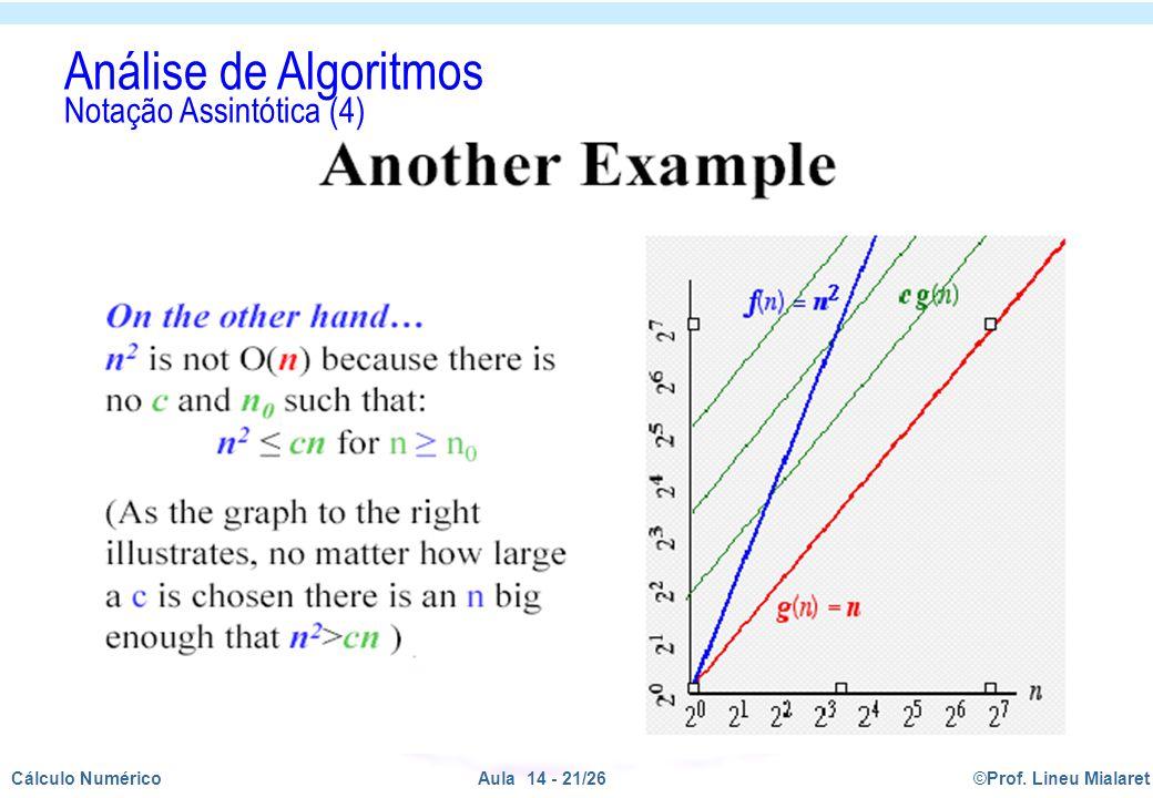 Análise de Algoritmos Notação Assintótica (4)