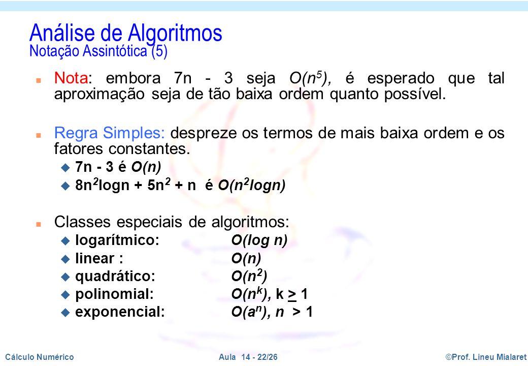 Análise de Algoritmos Notação Assintótica (5)
