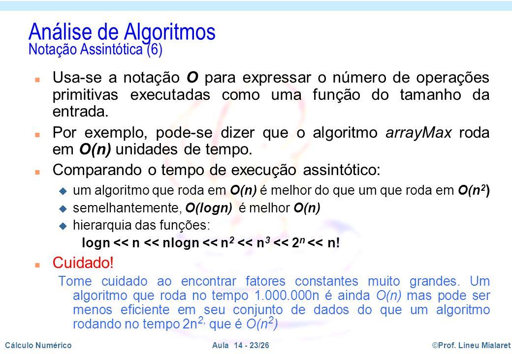 Análise de Algoritmos Notação Assintótica (6)
