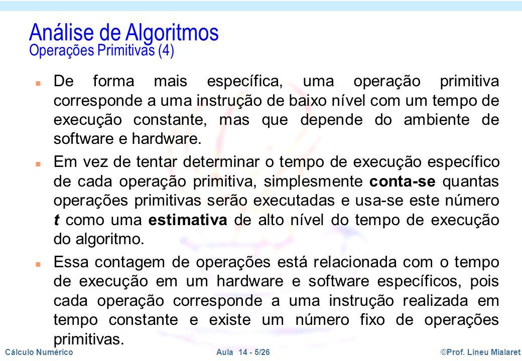 Análise de Algoritmos Operações Primitivas (4)