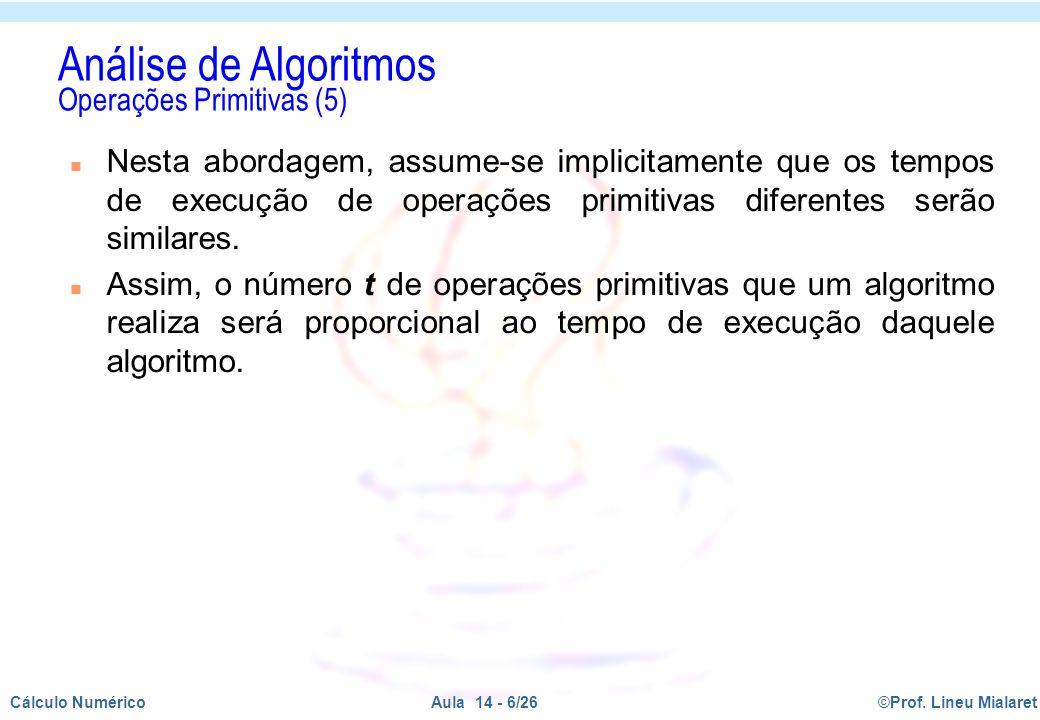 Análise de Algoritmos Operações Primitivas (5)