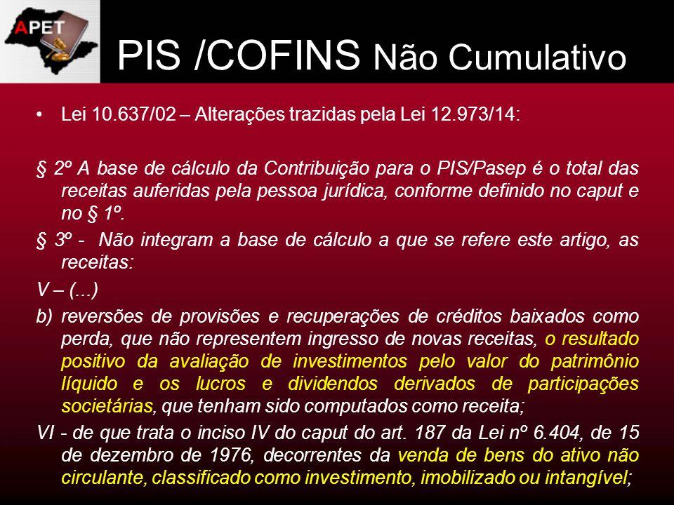 PIS /COFINS Não Cumulativo