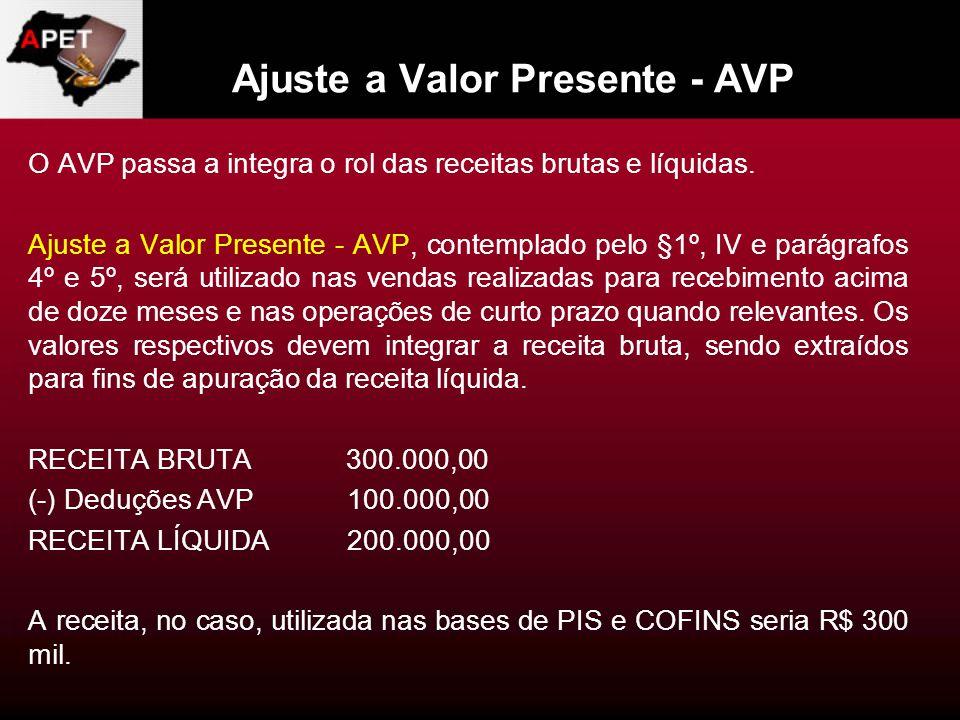 Ajuste a Valor Presente - AVP