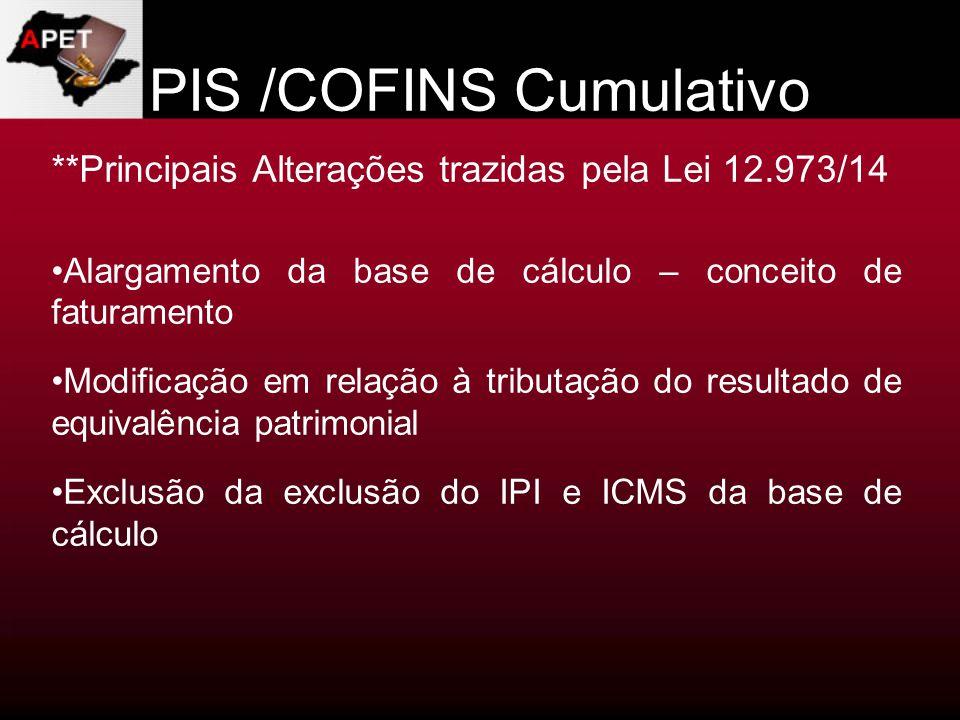 PIS /COFINS Cumulativo