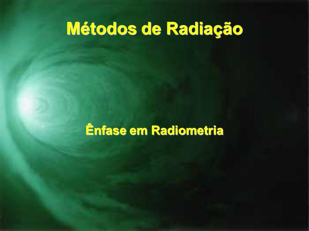 Métodos de Radiação Ênfase em Radiometria