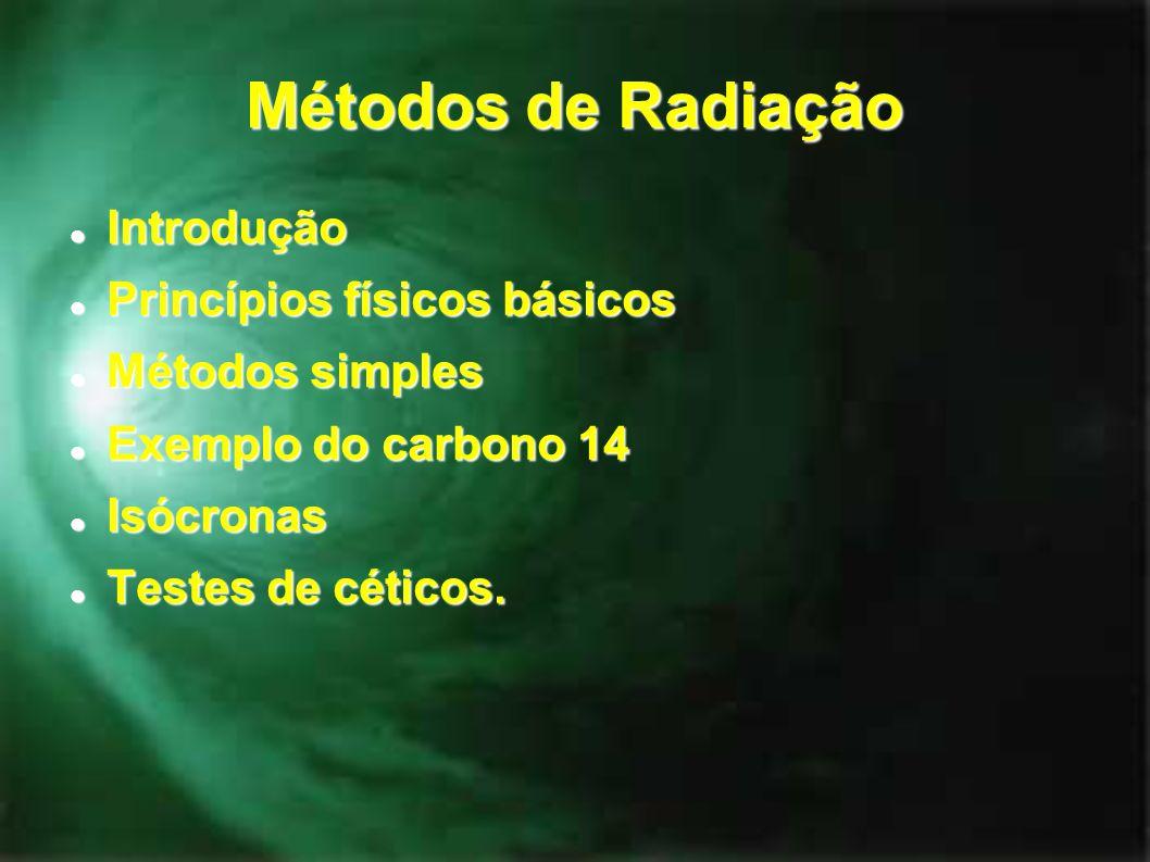 Métodos de Radiação Introdução Princípios físicos básicos