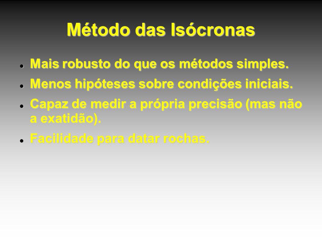 Método das Isócronas Mais robusto do que os métodos simples.