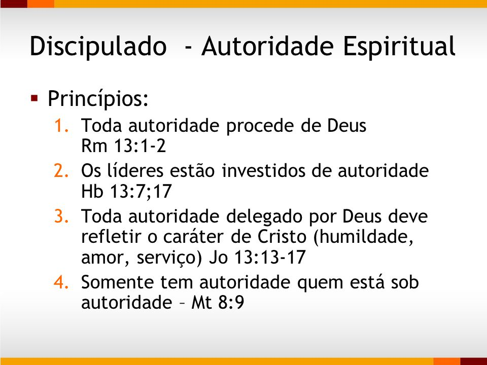 Discipulado - Autoridade Espiritual