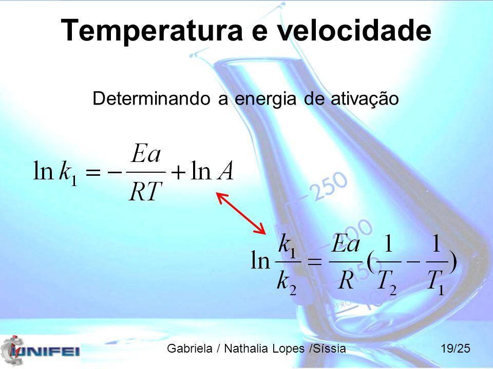 Temperatura e velocidade