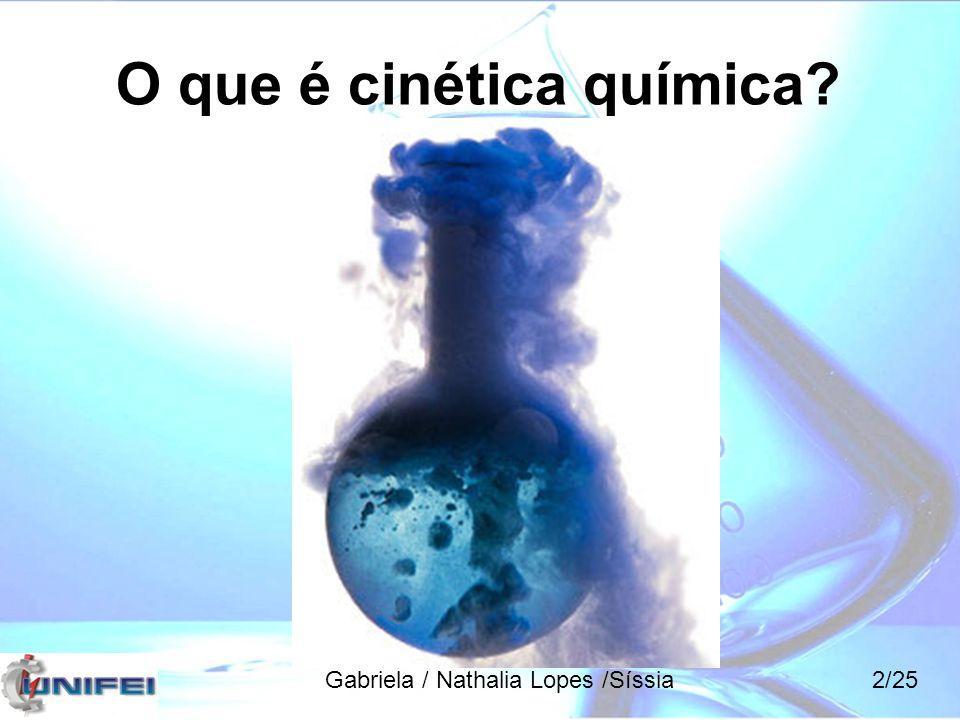O que é cinética química