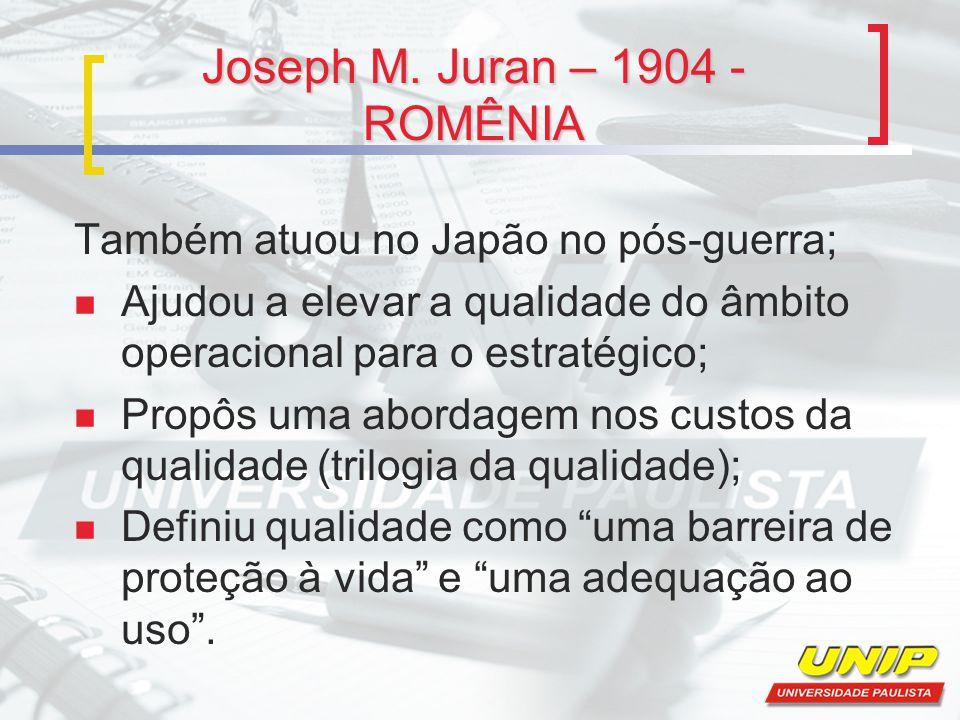 Joseph M. Juran – 1904 - ROMÊNIA