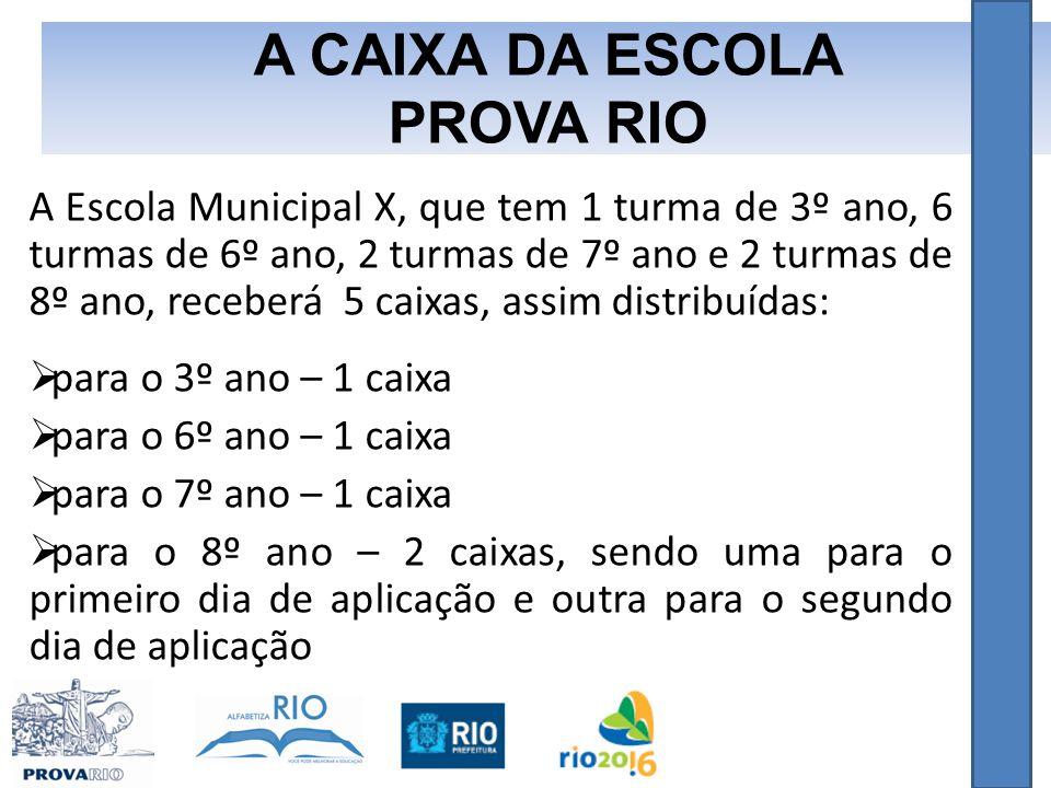 A CAIXA DA ESCOLA PROVA RIO