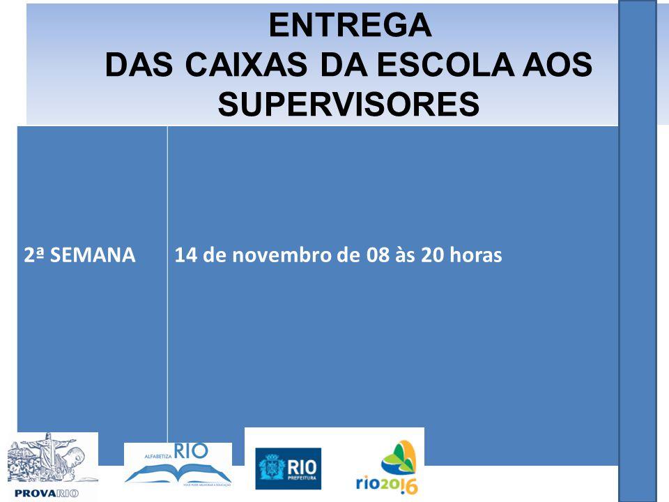 DAS CAIXAS DA ESCOLA AOS SUPERVISORES