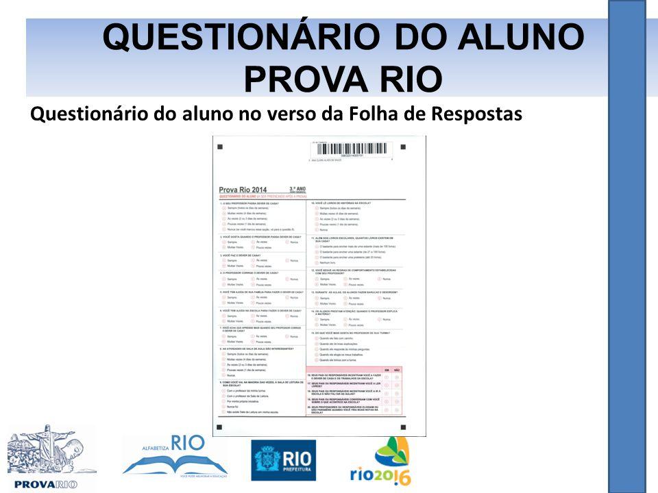 QUESTIONÁRIO DO ALUNO PROVA RIO