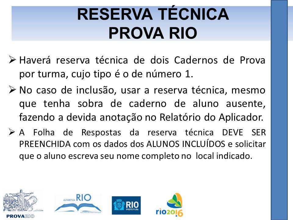 RESERVA TÉCNICA PROVA RIO