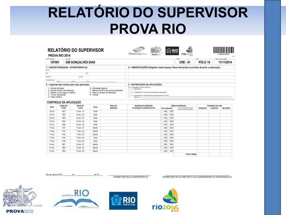RELATÓRIO DO SUPERVISOR