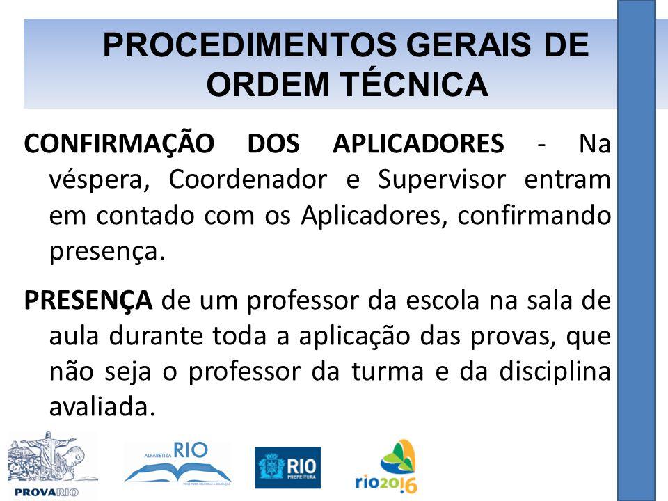 PROCEDIMENTOS GERAIS DE