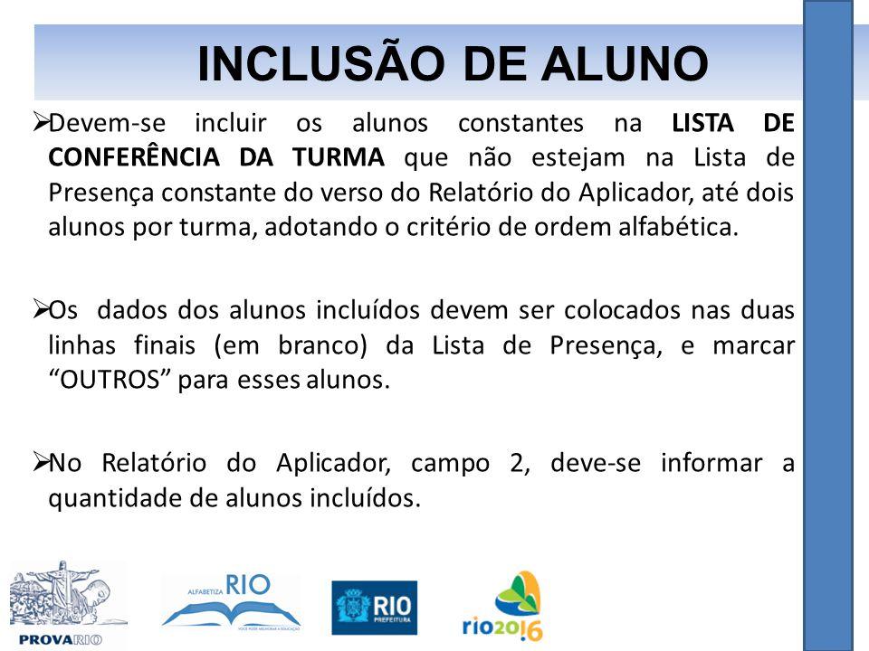 INCLUSÃO DE ALUNO