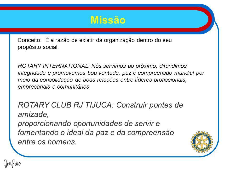 Missão ROTARY CLUB RJ TIJUCA: Construir pontes de amizade,
