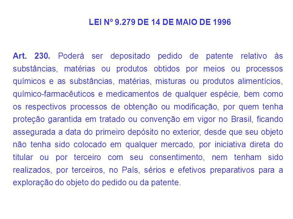 LEI Nº 9.279 DE 14 DE MAIO DE 1996