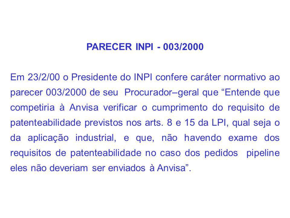PARECER INPI - 003/2000