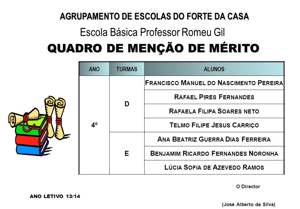 QUADRO DE MENÇÃO DE MÉRITO