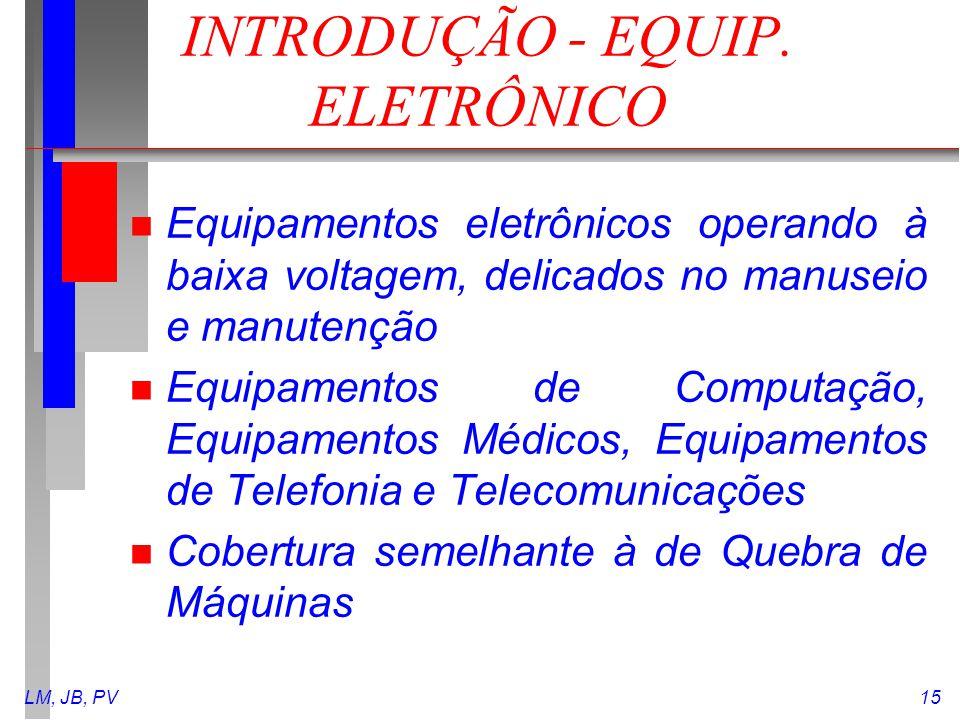 INTRODUÇÃO - EQUIP. ELETRÔNICO