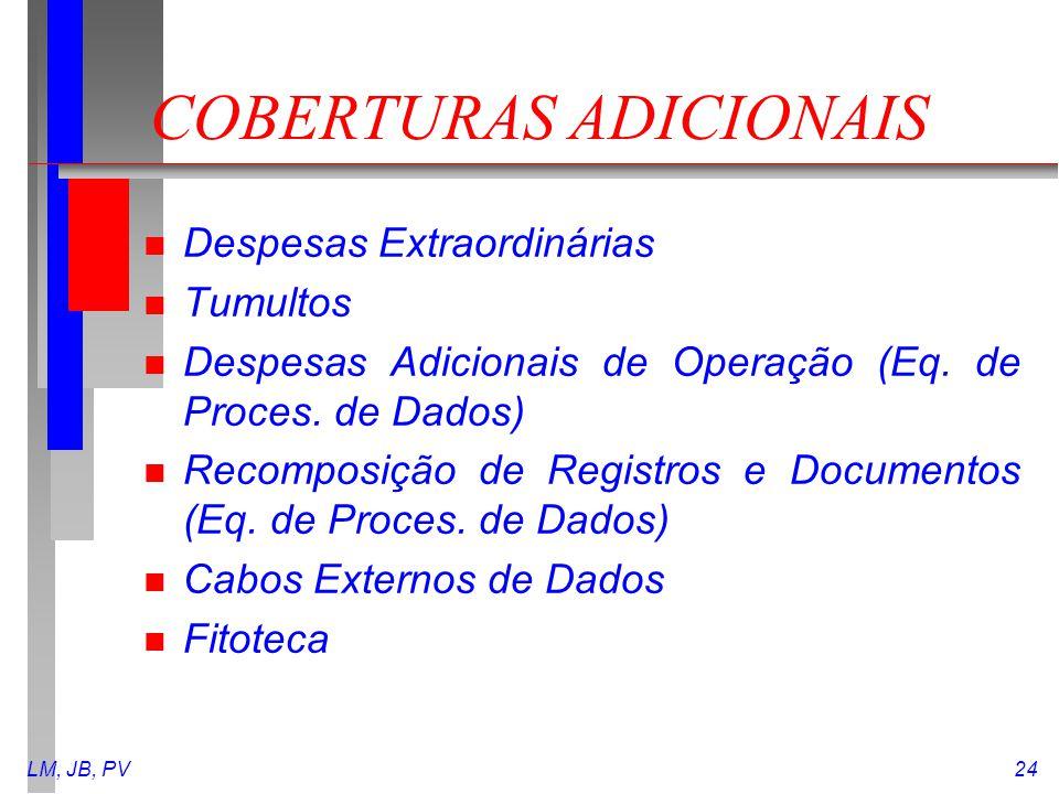 COBERTURAS ADICIONAIS
