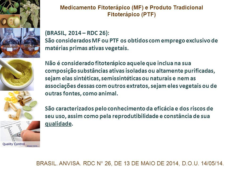 Medicamento Fitoterápico (MF) e Produto Tradicional Fitoterápico (PTF)